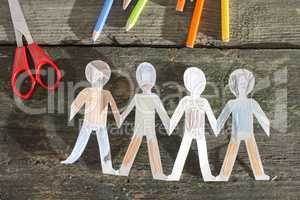Paper made people figures