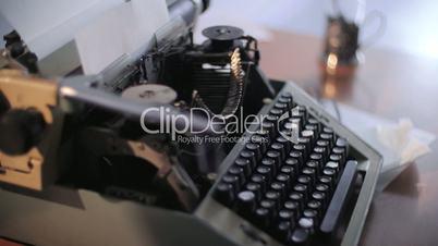 creative writing typewriter retro