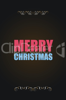 Merry Christmas. Holiday Vector Illustration. Lettering Composition