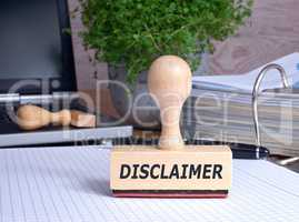 Disclaimer - Rubber Stamp in the Office