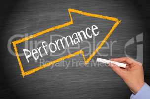 Performance - arrow with text