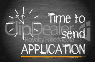 Time to send Application