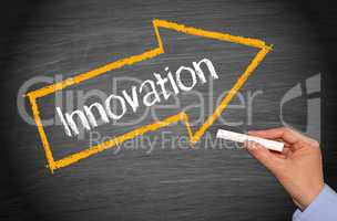 Innovation - Arrow with text