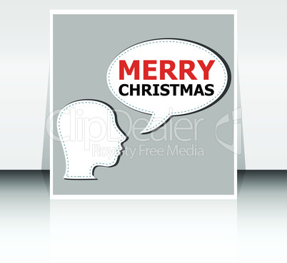 Classic Holiday Vector Lettering Series. Merry Christmas and Happy New Year greetings card