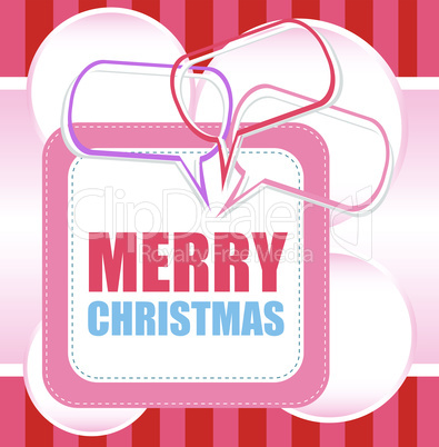 Merry Christmas unique xmas design elements. Great design element for congratulation cards, banners and flyers.