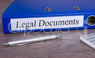 Legal Documents - blue binder in the office