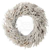 Wreath made with straw