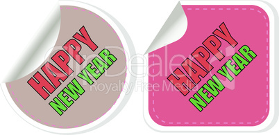 Happy New Year card design. creative concept vector background for Web and Mobile Applications, Illustration template design, business infographic, page, banner.