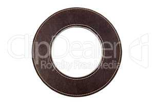 Round leather frame