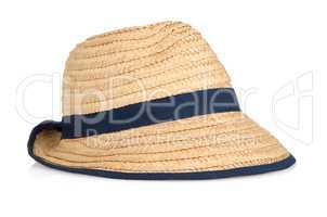 Straw hat withe black ribbon