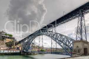 Steel bridge Ponte dom Luis