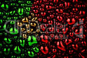 Portuguese flag made of water drops