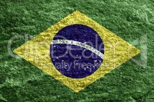 Brazil grunge flag