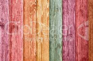 Color wooden wall