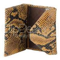 Snake skin leather wallet