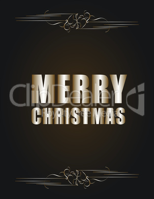 Vector Vintage Christmas Card. Grunge effects