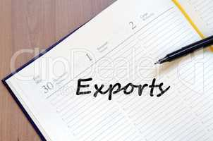 Exports write on notebook