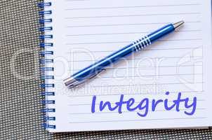 Integrity write on notebook