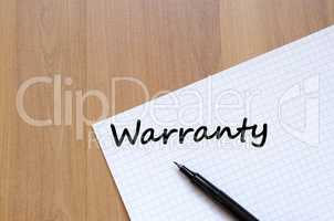 Warranty write on notebook