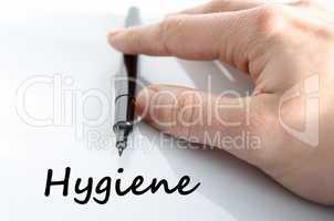 Hygiene text concept