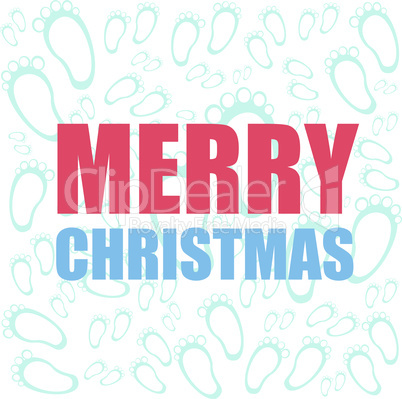 Merry Christmas and Happy New Year lettering Greeting Card. Vector illustration