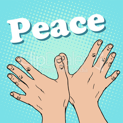 hand gesture dove of peace
