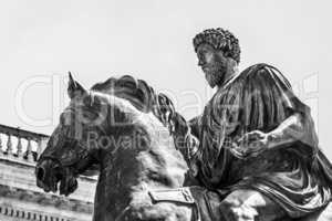 Equestrian statue of Marco Aurelio in Rome