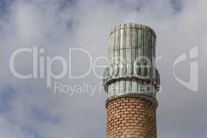 ancient pottery and brick chimney