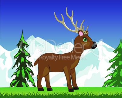 deer on glade.eps