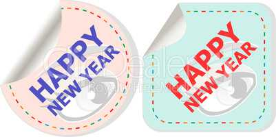 happy new year unique xmas design element. Great design element for congratulation cards, banners and flyers