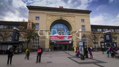 Timelapse of german railway station in Mannheim