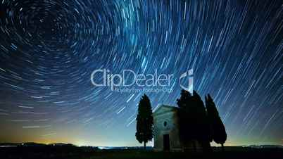 Fabulous Starry Sky. Time Lapse