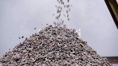 extraction of gravel