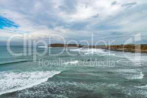 Sea and rocks in Peniche, Portugal