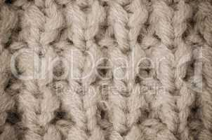 Beige knitted wool