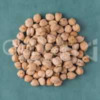 Circle of chickpeas