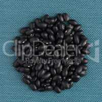 Circle of black beans