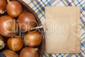 Onion food ingredients for cooking