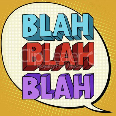blah talk comic bubble text