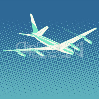 airplane flight travel tourism