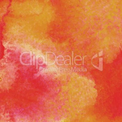 Orange watercolor paint vector background