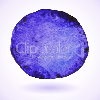 Violet vector isolated watercolor paint circle