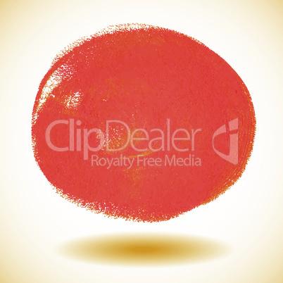 Orange watercolor paint vector circle