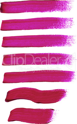 Magenta ink vector brush strokes