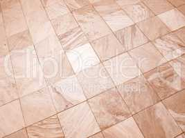 Retro looking Floor tiles