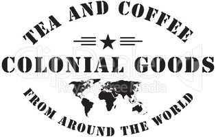 Colonial goods stamp stigma