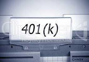 401k Folder Register Index - Retirement and Pension