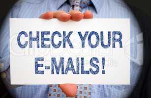 Check your e-mails