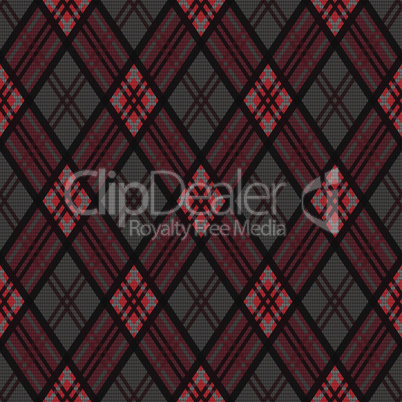 Rhombic seamless pattern in dark colors