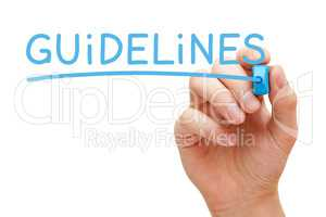 Guidelines Blue Marker